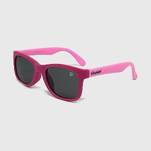 Óculos de Sol Infantil Flexível com Lente Polarizada e Proteção UV400 Pink e Rosa