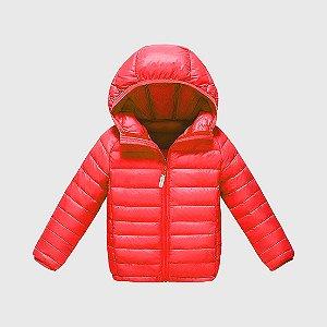 Jaqueta Ultraleve KidSplash! Infantil c/ Capuz Vermelha