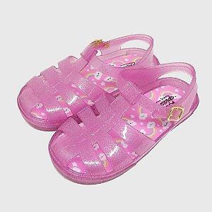 Sandália Sweet KidSplash! Glitter Rosa Claro