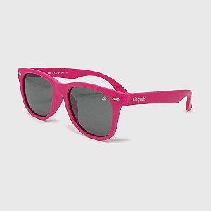 Óculos de Sol Infantil Flexível com Lente Polarizada e Proteção UV400 Rosa Neon