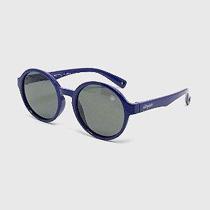 Óculos de Sol Infantil Flexível Redondo com Lente Polarizada e Proteção UV400 Azul Marinho