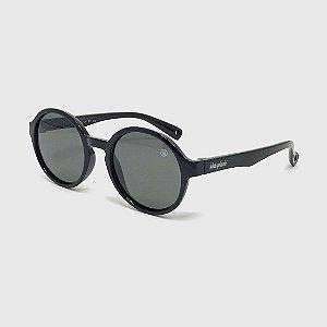 Óculos de Sol Infantil Flexível Redondo com Lente Polarizada e Proteção UV400 Preto