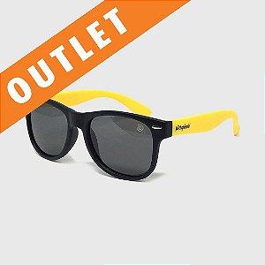 [OUTLET] Óculos de Sol Infantil Flexível com Lente Polarizada e Proteção UV400 Preto e Amarelo