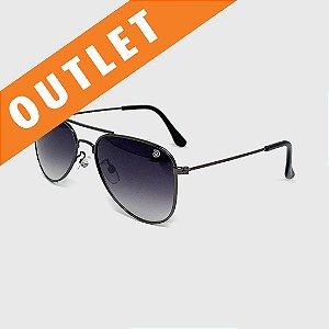 [OUTLET] Óculos de Sol Infantil com Proteção UV400 Aviador Preto Lente Degradê