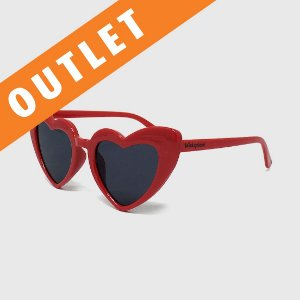 [OUTLET] Óculos de Sol Infantil com Proteção UV400 Coração Acetato Vermelho