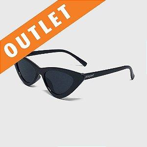 [OUTLET] Óculos de Sol Infantil com Proteção UV400 Gatinha Acetato Preto