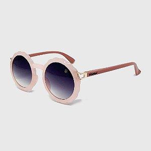 Óculos de Sol Infantil com Proteção UV400 Flor Acetato Teen Rosa Nude