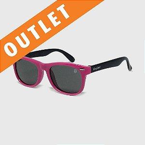 [OUTLET] Óculos de Sol Infantil Flexível com Lente Polarizada e Proteção UV400 Pink e Preto