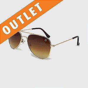 [OUTLET] Óculos de Sol Infantil com Proteção UV400 Aviador Marrom