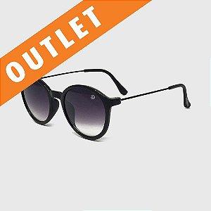 [OUTLET] Óculos de Sol Infantil com Proteção UV400 Redondo Acetato Teen Preto