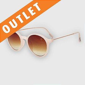 [OUTLET] Óculos de Sol Infantil com Proteção UV400 Redondo Acetato Teen Rosa Nude