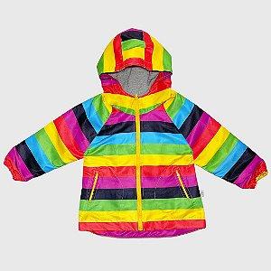 Jaqueta Corta Vento Infantil KidSplash! Arco-Íris