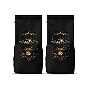 Promoção 6 kgs - Café Dona Irani Tradicional torrado e moído 3000g