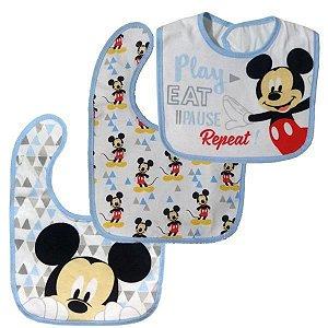 Kit com 3 Babadores Impermeável Mickey | Disney Baby