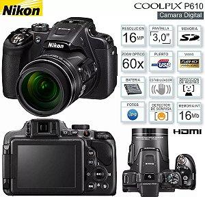 Câmera Digital Nikon Coolpix P610 Full Hd 16 Mp Produto recomendado pela Magazinejean pois trata-se de um produto ideal para você dar de presente para alguém. *7299*