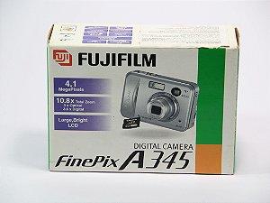 Câmera Fujifilm Finepix A345 4.1MP 10.8x Zoom produto na caixa usada em ótimo estado *6690*