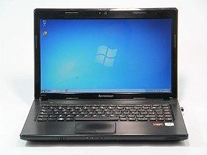 """Notebook Lenovo G475 AMD C-50 1.0Ghz 2GB HD 160gb Tela 14"""" Webcam, SD, e-Sata, 3 USB, Wifi, VGA, Win 7 Aceitamos notebooks usados na trocoa *5351*"""