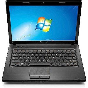 """Notebook Lenovo G475 AMD C-50 1.0Ghz 2GB HD 160gb Tela 14"""" Webcam, SD, e-Sata, 3 USB, Wifi, VGA, Win 7 Aceitamos notebooks usados natr coa *5351*"""
