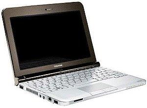 """Notebook Pequeno Toshiba NB 200 Atom 1.66 2gb hd 250 Tela 10"""" 3 USB, SD, Webcam, Win 7 Muito lindo. Aceitamos notebooks usados na troca *6449*"""