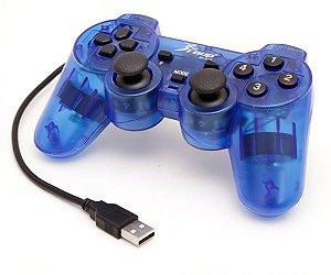 Controle Para Pc Usb Knup Kp-3121 (azul)