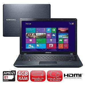 "Notebook Samsung NP275E-KD2BR AMD E1-1500 1.48Ghz 4GB HD 250GB Tela 14"" Wifi, Win 7  *7141*"