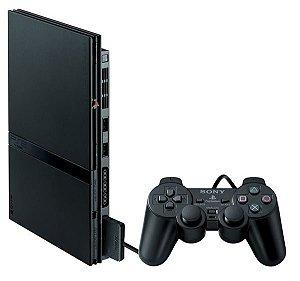 PS2 - PlayStaion 2 SCPH-90010 com 1 Controle e Cabos *6391*