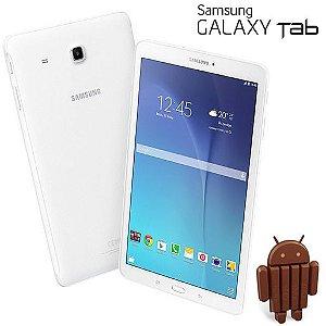 "Tablet Galaxy Tab E T116BU Branco Tela 7"", 3G+WiFi, Android 4.4, Câmera 2MP, Memória 8GB - Samsung *7123*"