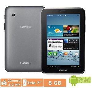 "Tablet Samsung Galaxy Tab 2 7.0 P3110 Preto Tela 7,0"", 8GB, Processador Dual Core 1.0 GHz, Câmera 3.2MP, Wi-Fi, GPS, Bluetooth e Android 4.0 *6680*"