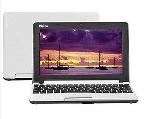 "Netbook Philco Intel® Atom™ Dual Core D2500, 10C-B123LM Branco, 2GB, HD 160GB, 10.1"" LED Widescreen, Webcam, HDMI e Wi-Fi *7252*"