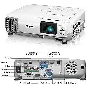 Projetor Epson PowerLite S17 SVGA - 2700 lumens - 800 x 600 - 3LCD - HDMI/S-Video/RCA/USB *7256*