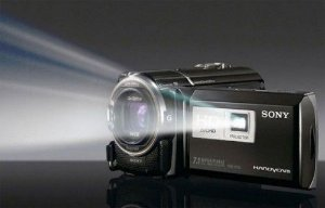 Incrível Câmera Filmadora com Projetor integrado da Sony Handycam Dcr-pj5 Tela 2.7 Preta *7124*