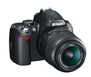 Câmera Semi Profissional Nikon D60 + Lente VR 18-55   *7297-2*