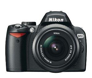 Câmera Semi Profissional Nikon D60 + Lente VR 18-55 + Lente Nikon AF-S DX VR Zoom-Nikkor 55-200mm f/4-5.6G IF-ED   *7297-2*