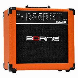 Cubo Amplificador Borne Para Guitarra Strike G30 15w *7348*