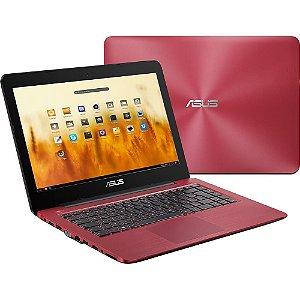 """Compro Notebook Asus Z450UA-WX010 Intel Core i3 4GB 500GB Tela 14"""" Endless OS - Vermelho"""