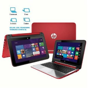 "Notebook HP Pavilion 11-N022br Intel Celeron 2.13ghz 4GB HD 500gb 3 USB, HDMI, Wifi Tela touch 11.6"" Win 8 *7396*"