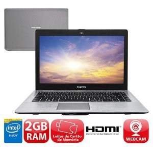"Notebook Positivo STILO XRI2950 Intel Celeron 1.58ghz SSD 32GB, 2GB Tela 14"" Win 7  *7373*"