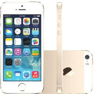Iphone 5s dourado 16GB IOS 10.3 Wifi, Bluetooth, 3G *7465*