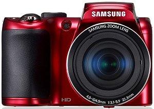 Câmera Samsung Zoom Lens WB100 Vermelha, 26X de Zoom Optico, Dupla Estabilização de Imagem, Função Panorama, 16.2 Mega Pixels, 4.0-104.0mm 1:3.1-5.9 22.3mm *7466*