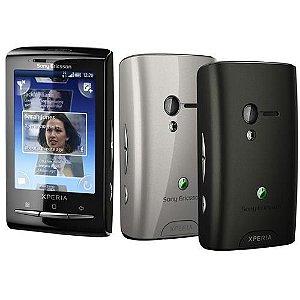 Celular Xperia X10 E10a Mini Preto, Capa Traseira Cinza *7163*