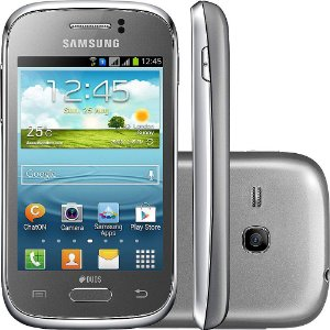 Smartphone Samsung Galaxy Young Duos GT-S6313T Cinza, Android 4.1.2, 2GB, wifi, bluetooth, TV Digital, Dual Chip *7471*