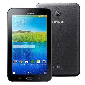 Tablet Samsung SM-T116BU, 3G, Wifi, Bluetooth, Android 4.4, Câmera frontal e traseira, RAM 1GB, Preto *7808*
