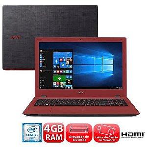 Notebook Acer Aspire E5-574 Intel Core I3 1TB 4GB Leitor Dvd Hdmi Tela 15.6 *7861*