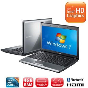 "Notebook Samsung RV440 Intel Core i3 2.53ghz HD 320gb, 4GB, Tela 14"" Webcam, HDMI, 3 USB, DVD-ROM, Wifi, Win 7. Aceitamos notebooks usados *7877*"