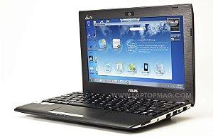 "Netbook Asus Eee PC Flare series Intel Atom 1.6ghz HD 160GB HDMI, Tela 10"" Webcam Win 7 Aceitamos notebook usado *7171*"