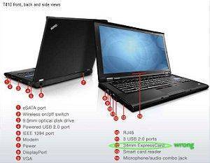Notebook Lenovo T410 Core I5 2.40ghz 320gb 4gb Win7 DVD SDCARD 4USB Aceitamos seu usado como parte de pagamento*9017*