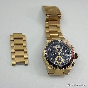 *1072* Relógio Original Invicta Dourado na caixa + gomos. Fazemos trocas por notebooks, macbook, tablets etc..