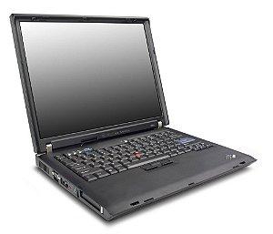 "*588* Notebooks com saída Paralela IBM ThinkPad R51 com Intel Pentium M 1.5ghz HD 40gb / 1GB / Win 7 Tela 15"" / 2 USB / Slot PCMCIA"