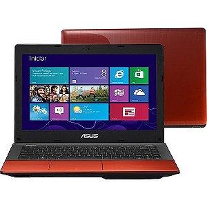 """*N5007* Notebook Asus K45A Core i5 2.5ghz, HD 500, 4 GB, Tela 14"""" Wifi, Webcam, 3 USB, HDMI, VGA, Saída VGA, Windows 8. Vermelho. Equipamento muito lindo. Aceitamos diversos produtos como parte do pagamento, venha já para nossa loja."""