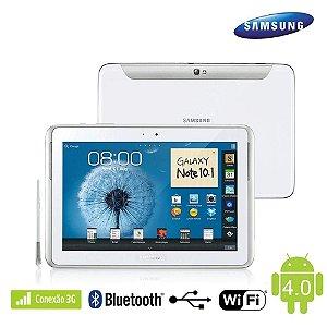 *820* Tablet Samsung Galaxy Note N8000 10.1´ 3G Faz e Recebe Ligações. 16GB, Câmera 5MP, Wi-Fi, Bluetooth, Branco. Fazemos trocas por notebooks, macbooks, iphones e outros produtos.